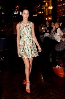 Floral Mesh Striped Skater Dress (Photo by Yellow Machine PR)