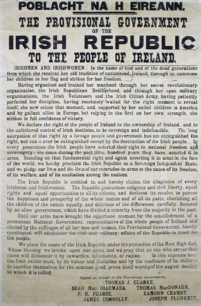 Irish Proclamation 1916