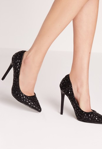 Missguided €28 - Embossed stud court shoe http://bit.ly/21IRSRm