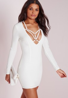 Missguided €49 - Long sleeve harness detail bodycon dress http://bit.ly/1UmTCRV
