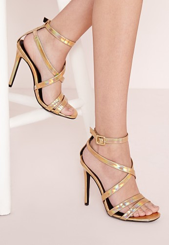 Missguided €28 - Metallic gladiator heeled sandals http://bit.ly/1RBgCvI