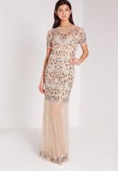 Missguided €140 - Premium mini flower embellished mesh maxi dress http://bit.ly/1VJ7hBE