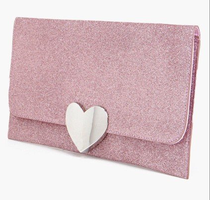 Boohoo €19 - Lucy Heart Clasp Glitter Clutch Bag http://www.boohoo.com/new-in-accessories/lucy-heart-clasp-glitter-clutch-bag/invt/dzz86841
