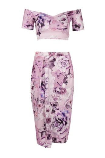 Boohoo €27 - Pia Floral Wrap Midi Skirt & Crop Top Co-Ord Set http://www.boohoo.com/new-in/pia-floral-wrap-midi-skirt+crop-top-co-ord-set/invt/dzz84724