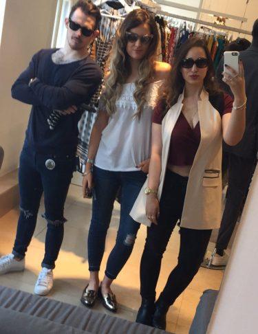 Damien, Lorna and I
