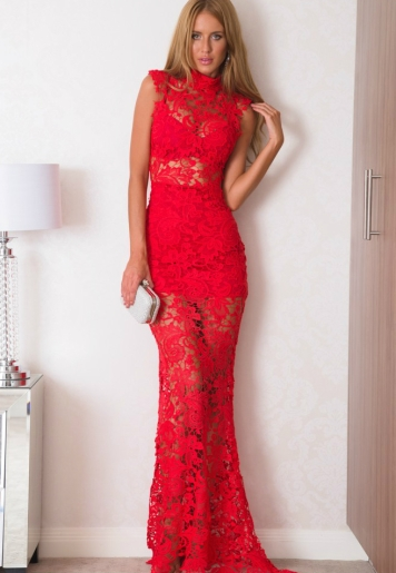 Xenia Boutique @ ASOS Marketplace €49 - Elegant Red Lace Maxi Dress http://bit.ly/1N4eQkC