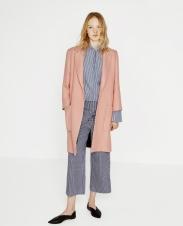 Zara €89.95 - Patch Pocket Coat in Pink (in store)