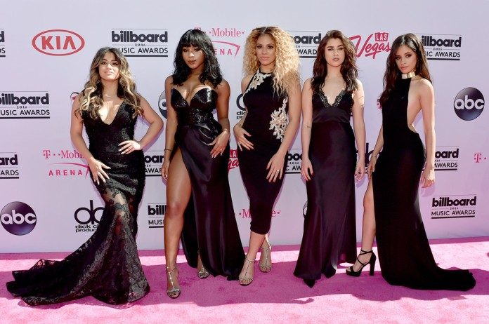 (L-R) Ally Brooke, Normani Hamilton, Dinah-Jane Hansen, Lauren Jauregui and Camila Cabello of Fifth Harmony