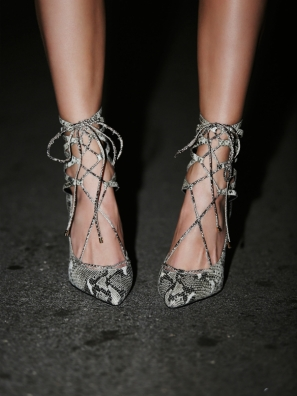 Jeffrey Campbell €159.40 - Hierro Heels in Grey/White Snake http://bit.ly/1No9aCD