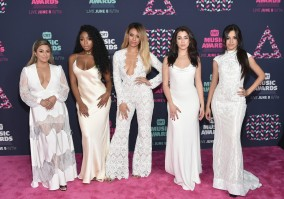 (L-R) Ally Brooke, Normani Kordei, Dinah Jane, Camila Cabello & Lauren Jauregui of Fifth Harmony