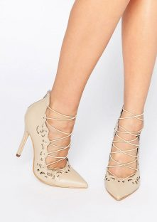 Public Desire @ ASOS €24.65 - Una Nude Lace Up Heels http://bit.ly/2943g9w