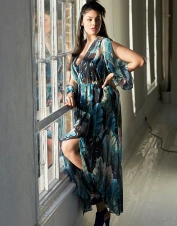 Girls On Film Curve Print Maxi Dress1