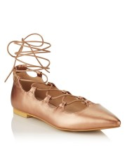 Glamorous €37 - Ghillie Lace Up Pointed Ballerina Pumps http://ie.nextdirect.com/en/gl65724s3#L43990