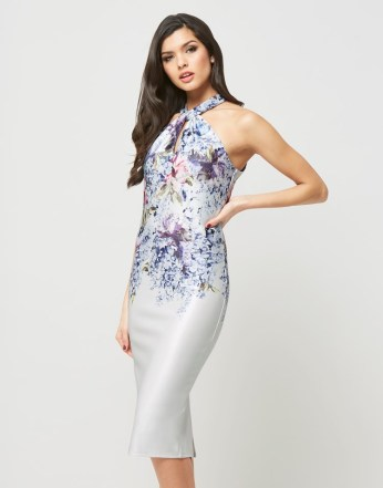 Hope & Ivy €77.99/£60 - Floral Ombre Tie Front Pencil Dress http://bit.ly/28Kev3p