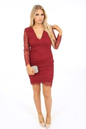 AX Paris €27 - Lace Plunging Dress https://www.dresses.ie/dress-ax-paris-lace-long-sleeve-D096198/