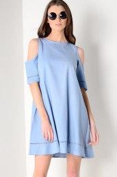 Dresses.ie €27 - Chambray Cold Shoulder Swing Dress https://www.dresses.ie/dress-chambray-cold-shoulder-swing-dress-D186477/