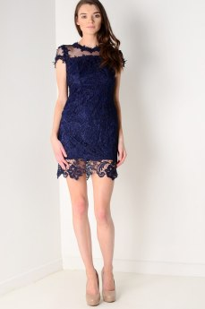 Dresses.ie €67 - Lace And Sheer Cap Sleeve https://www.dresses.ie/dress-navy-lace-and-sheer-cap-sleeve-D136468/