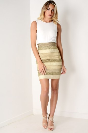 Dresses.ie €65 - 2 in 1 Mini Dress https://www.dresses.ie/dress-2in1-mini-dress-white-gold-D076394/