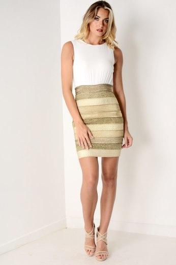 Dresses.ie €65 - 2 in 1 Mini Dress https://www.dresses.ie/dress-2in1-mini-dress-white-gold-D076394/