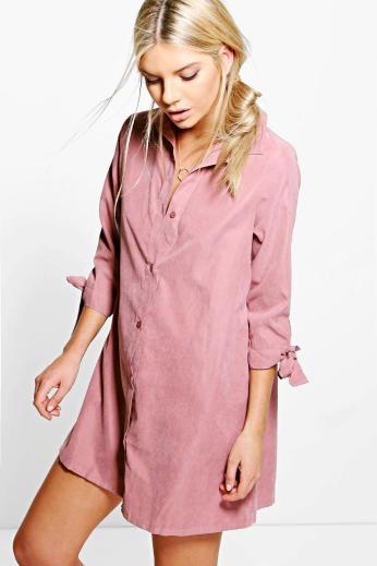 Boohoo €30 - Emma Tie Sleeve Shirt Dress http://bit.ly/2df2SDZ