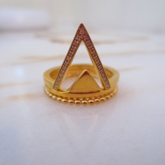 Thomas Sabo €198 - Yellow Gold Filigree Cut Out Diamond Triangle Ring http://bit.ly/2d9a06P