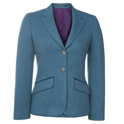 Magee 1866 €350 - Alicia Herringbone Tweed & Velvet Pocket Jacket http://bit.ly/2ekgZOj