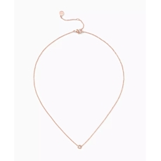Stella & Dot €40 - Diamond Solitaire Wishing Necklace in Rose Gold http://bit.ly/2dVmEH7