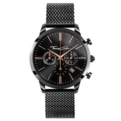 Thomas Sabo €349 - Rebel Spirit Chrono Watch Black & Rosé http://bit.ly/2encqyW