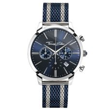 Thomas Sabo €298 - Rebel Spirit Chrono Watch Silver & Navy http://bit.ly/2dZmtKE
