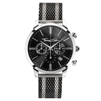 Thomas Sabo €298 - Rebel Spirit Chrono Watch Silver & Black http://bit.ly/2e8ee2s