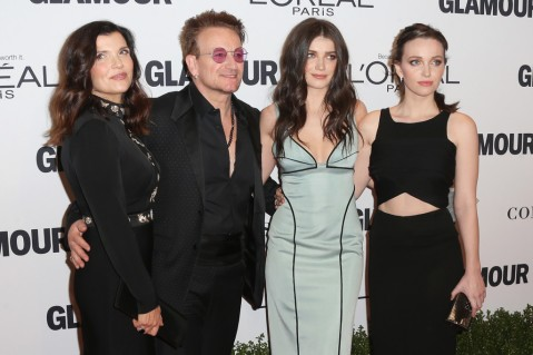 Bono with wife Ali Hewson, and daughters Eve & Jordan Hewson