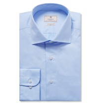 Hackett, €120 - Blue Mayfair Slim-Fit Cotton-Poplin Shirt http://bit.ly/2gIbgPs