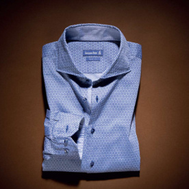 Jacques Britt, €139 - Blue Octagon Pattern Shirt https://www.louiscopeland.com/mens-casual-shirts-c111/jacques-britt-blue-octagon-pattern-shirt-p133037