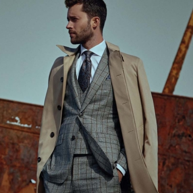 Louis Copeland & Sons, €1249 - Grey Checked Suit, in store only