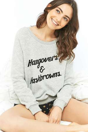 Urban Outfitters, €52 - Hangover Cure Grey Crew Neck Sweatshirt http://bit.ly/2fYBGeB