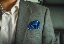 Mr. Jenks, €29.99 - Navy and Light Blue Large Polka Dot Silk Pocket Square http://bit.ly/2gFveg9