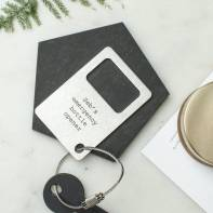 Not On The High Street, €19.17 - Personalised Bottle Opener Keyring http://www.notonthehighstreet.com/creategiftlove/product/personalised-bottle-opener-keyring