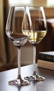 Swarovski, €299 - Crystalline White Wine Glasses http://bit.ly/2gsf5qE