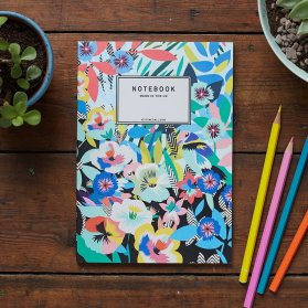 Moss Cottage, €10 - Tropical Birds Notebook http://moss.ie/collections/notebooks/products/tropicalia-birds-notebook