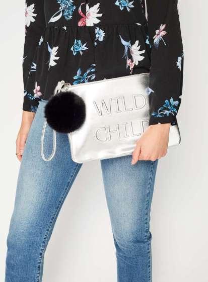 Miss Selfridge, €28 - Wild Child Clutch Bag http://euro.missselfridge.com/en/mseu/product/accessories-873729/bags-purses-873757/wild-child-clutch-bag-5981819?bi=0&ps=40
