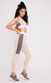 Pretty Little Thing Isadora Stone Panelled Gym Leggings, €21 https://ie.prettylittlething.com/isadoran-stone-panelled-gym-leggings.html