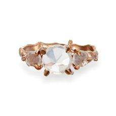 Chupi €249 - Rose Gold Tinkle in the Wild Rose Quartz Ring https://www.chupi.com/products/tiny-twinkle-in-the-wild-rose-quartz-drop-ring-in-rose-gold