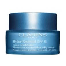 Clarins €45 - Hydra-Essentiel Silky Cream SPF Normal to Dry Skin https://millies.ie/products/clarins-hydra-essentiel-cream-normal-to-dry
