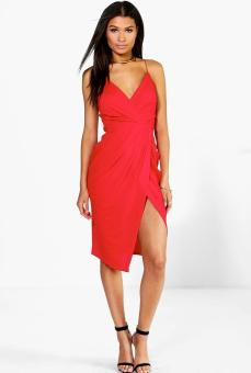 Boohoo - €24 Diane Strappy Wrap Detail Midi Dress http://ie.boohoo.com/diane-strappy-wrap-detail-midi-dress/DZZ74712.html?color=363