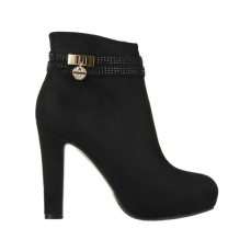 Korky's €59.99 - Black Suedette Ankle Boots http://www.korkys.ie/black-suedette-ankle-boot-h124-bks