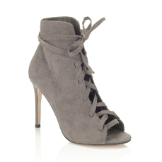 Lipsy €86.66 - Lace Up Peep Toe Boots http://bit.ly/2mL24LY