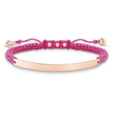 Thomas Sabo €149 - Love Bridge Knotted Macramé Rose Gold Bracelet http://www.thomassabo.com/EU/en_IE/pd/bracelet/LBA0065.html