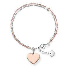 Thomas Sabo €139 - Love Bridge Sterling Silver & Rose Gold Heart Bracelet http://www.thomassabo.com/EU/en_IE/pd/bracelet/LBA0102.html