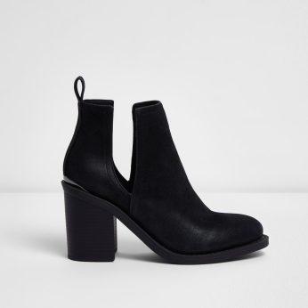 River Island €33 - Black Cut Out Boots http://bit.ly/2m8zGq5