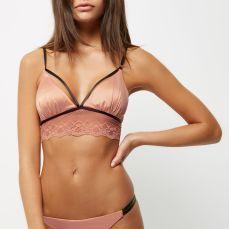 River Island €22 - Pink satin lace non wired bralet http://eu.riverisland.com/women/lingerie--nightwear/lingerie/bras/pink-satin-lace-non-wired-bralet-687065